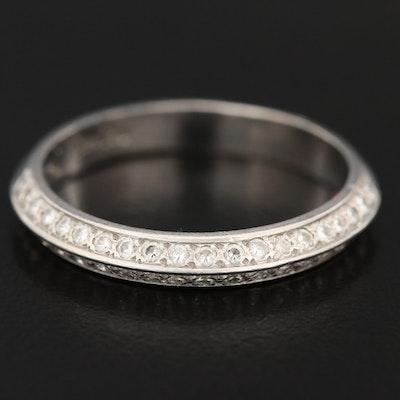 Shane Co. Platinum Diamond Knife Edge Ring