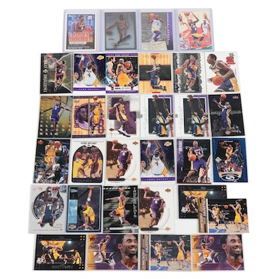 Kobe Bryant Los Angeles NBA Basketball Trading Cards with 1997 Fleer Rookie