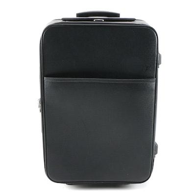 Louis Vuitton Pégase 55 Rolling Suitcase in Ardoise Taiga Leather