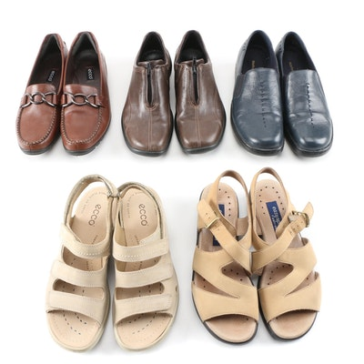 Ecco, Naturalizer and Easy Spirit Sandals, Loafers and Walking Shoes