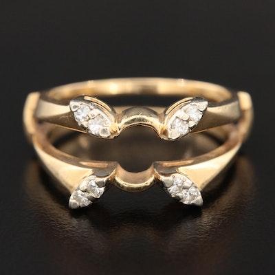 14K Yellow Gold Diamond Ring Jacket