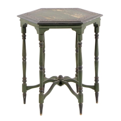 Hexagonal Painted Center Table, circa 1920