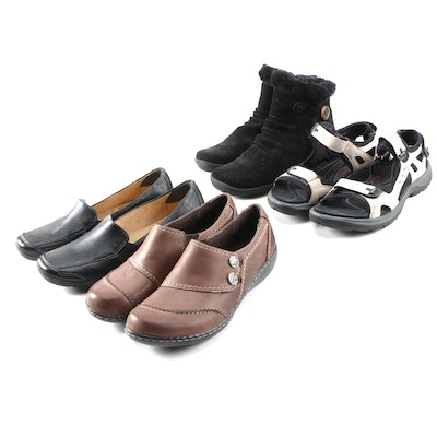 Naturalizer, Ecco, Clarks and Bare Traps Sandals, Shoes and Booties