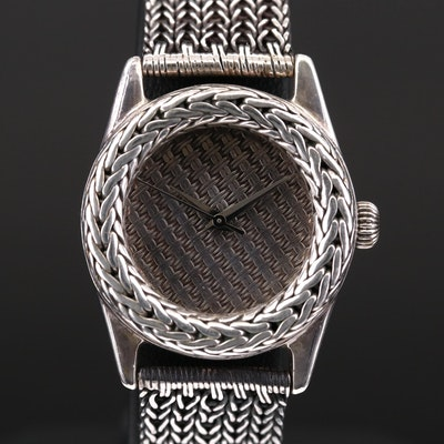 John Hardy Sterling Silver Quartz Wristwatch