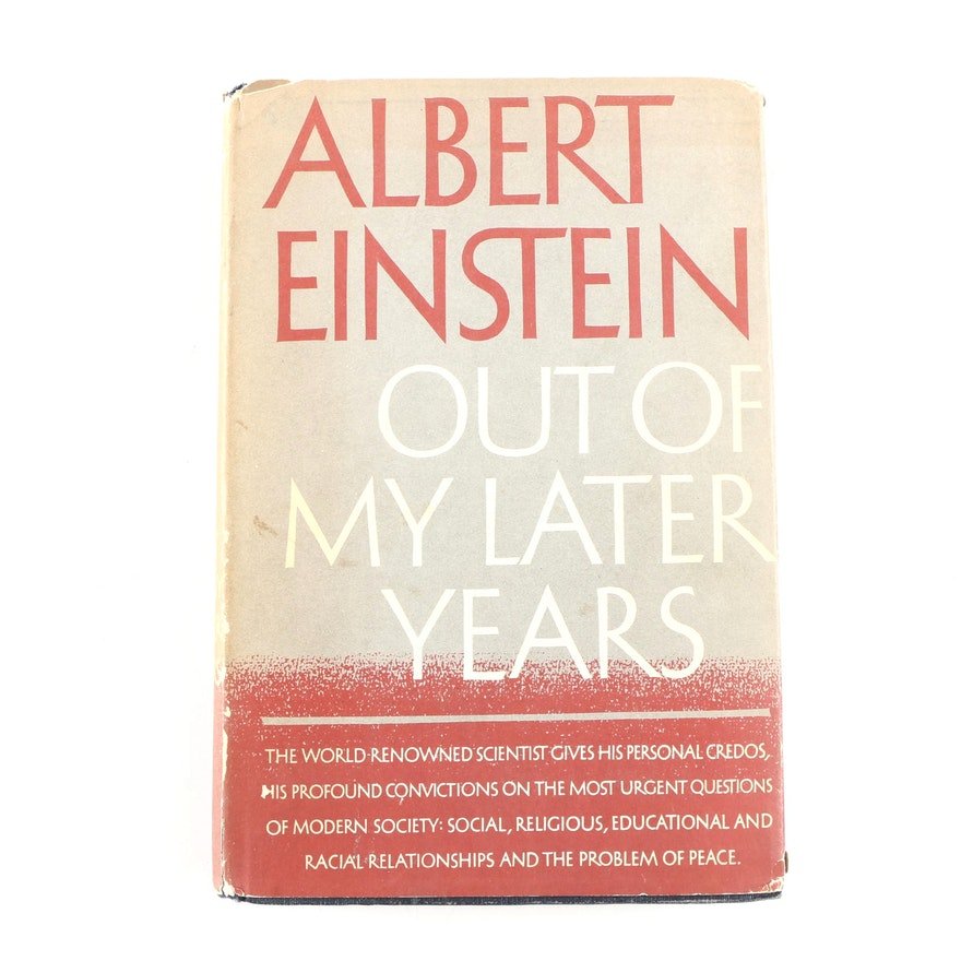 """1950 First Edition """"Out of My Later Years"""" by Albert Einstein"""