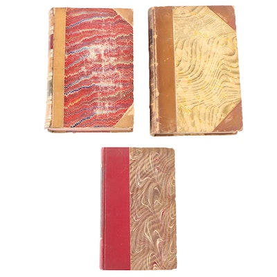 "Leather Bound ""Corinne ou L'Italie"", ""Madame Chrysanthème"" and More, 1800s"