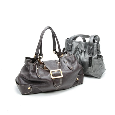 Maxx New York and Tignanello Pebbled Leather Handbags