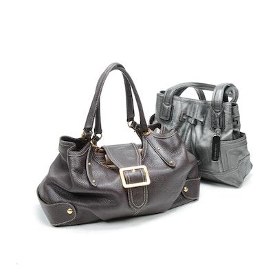 Maxx New York and Tignanello Pebbled Leather Handbags