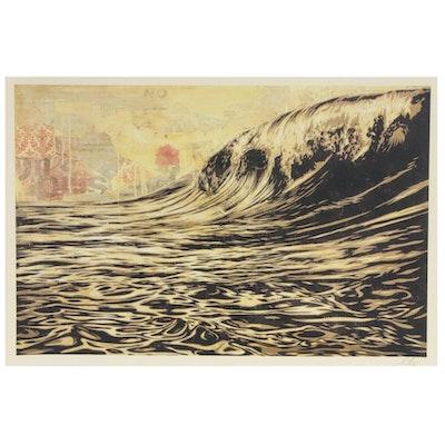 """Shepard Fairey Offset Print """"Dark Wave,"""" 2020"""