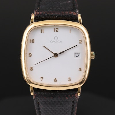 Omega DeVille Gold Tone Quartz Wristwatch