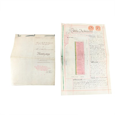 Indenture Land Documents on Vellum From Middlesex, England, 1902