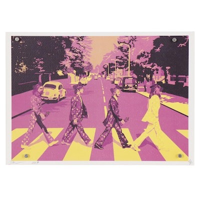 """Death NYC Offset Lithograph """"Beatles Cross Pk Y"""""""