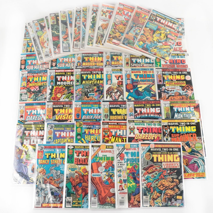 """Marvel Two-In-One """"THING"""" Comic Books"""