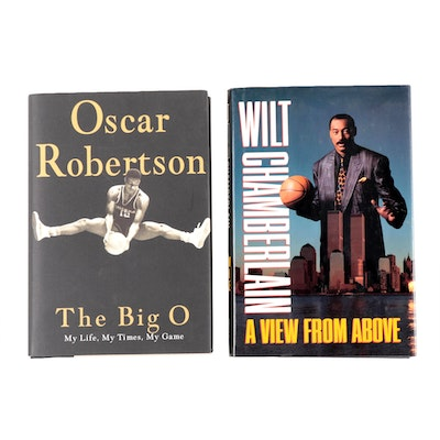 Oscar Robertson and Wilt Chamberlain Signed Books
