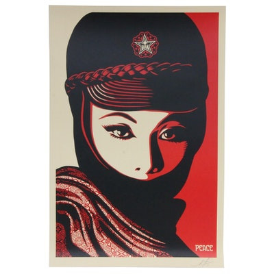 """Shepard Fairey Offset Print """"Mujer Fatale,"""" 2019"""