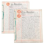 Vellum Property Indenture Documents of Southfield Road in Chiswick, London, 1902