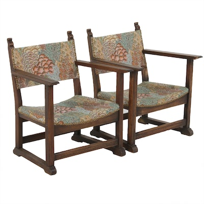 Pair of Fireside Arts and Crafts Children's Chairs, Early 20th Century