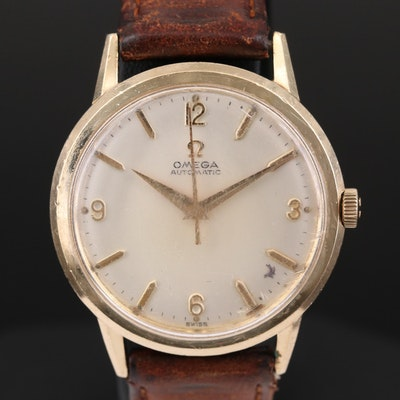 Vintage Omega 10K Gold Filled Automatic Wristwatch, 1963