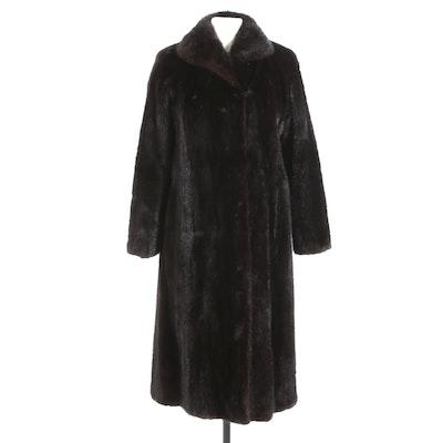 Dark Mahogany Mink Fur Coat by Hopper Furs
