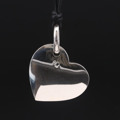 DoDo Sterling Silver Heart Pendant Necklace