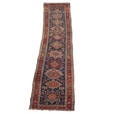 3'7 x 13'9 Hand-Knotted Persian Karaja Wool Long Rug