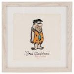 "Hanna-Barbera Halftone Serigraph ""Fred Flintstone"", 1960"