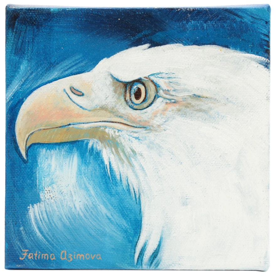 Fatima Taylor Acrylic Painting of a Bald Eagle