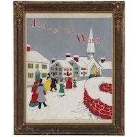 "Gouache Painting ""Joy to the World"""