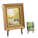 Charles E. Parthesius Miniature Enamel Paintings on Copper