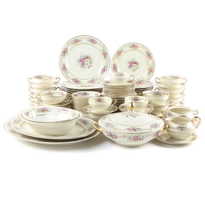 "Charles Ahrenfeldt ""Genève"" Ivory China Dinnerware and Serving Pieces"