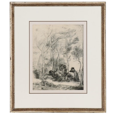 Giclee Print after Jean Baptiste Camille Corot of Florentine Sketch