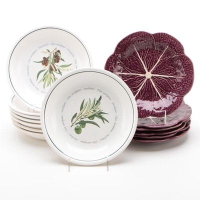 Williams-Sonoma Ceramic Bowls with Sur La Table Ceramic Cabbage Plates