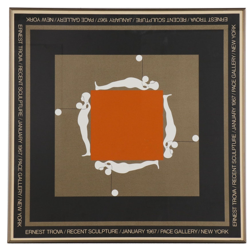 Serigraph Exhibition Poster for Ernest Tino Trova at Pace Gallery, 1967