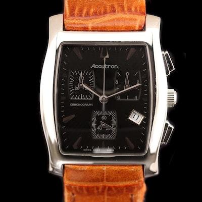 Bulova Accutron Oxford Swiss Stainless Steel Quartz Chronograph Wristwatch
