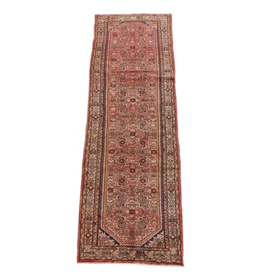 3'2 x 10'8 Hand-Knotted Persian Hamadan Wool Long Rug