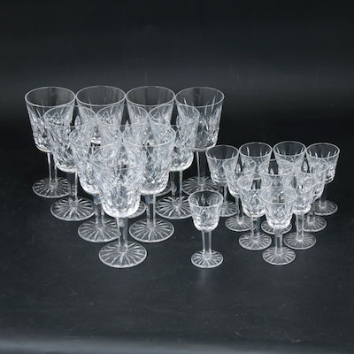 """Waterford Crystal """"Lismore"""" White Wine and Cordial Stemware"""