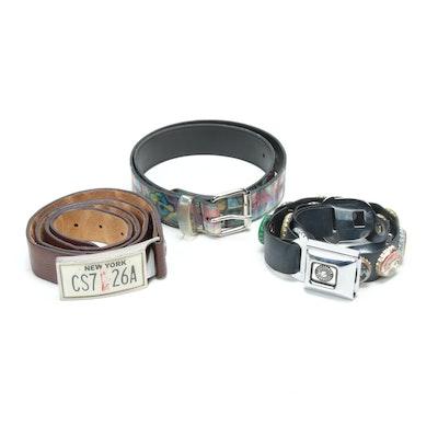 Little Earth Seatbelt Bottle Cap Belt with New York and Graffiti Themed Belts