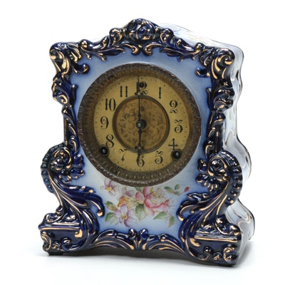 William Gilbert Porcelain Mantle Clock