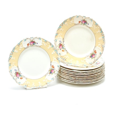 George Jones & Sons Porcelain Dinnerware, Early 20th Century