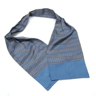 Hermès Paris Patterned Silk Ascot Scarf