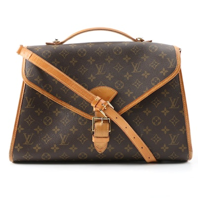 Louis Vuitton Beverly Briefcase GM Bag in Monogram Canvas and Leather