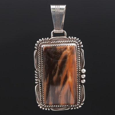 Lorren Begay Navajo Diné Sterling Silver Jasper Pendant