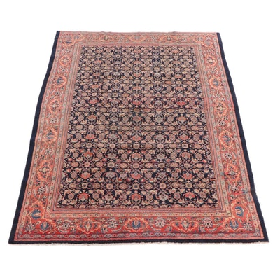 8'8 x 12'3 Hand-Knotted Persian Hamadan Wool Rug