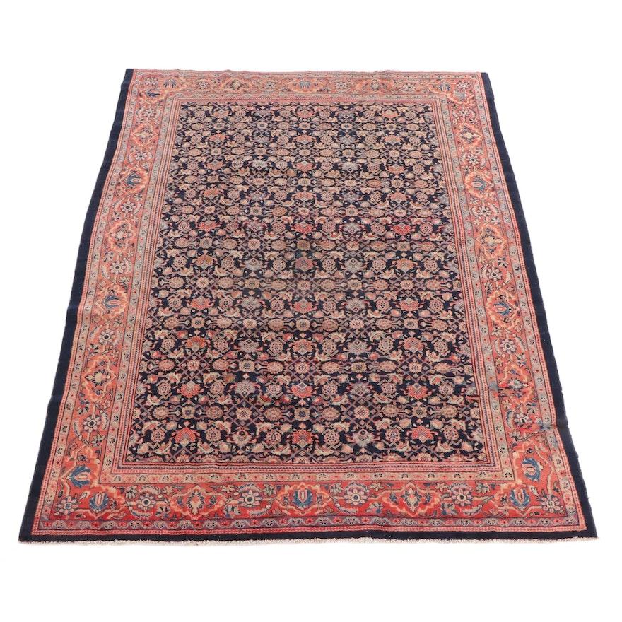 8'8 x 12'3 Hand-Knotted Persian Hamadan Wool Rug