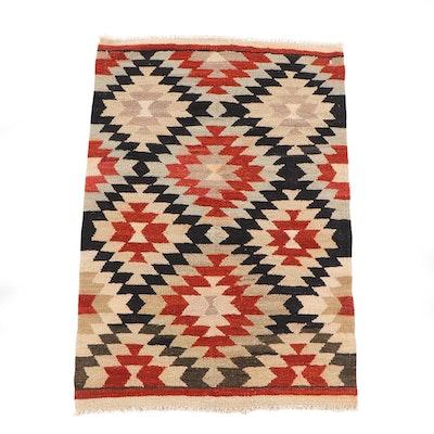3'3 x 4'10 Handwoven Afghan Killim Geometric Wool Rug