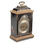 Elliott of London Chinoiserie Bracket Clock, Mid-20th Century