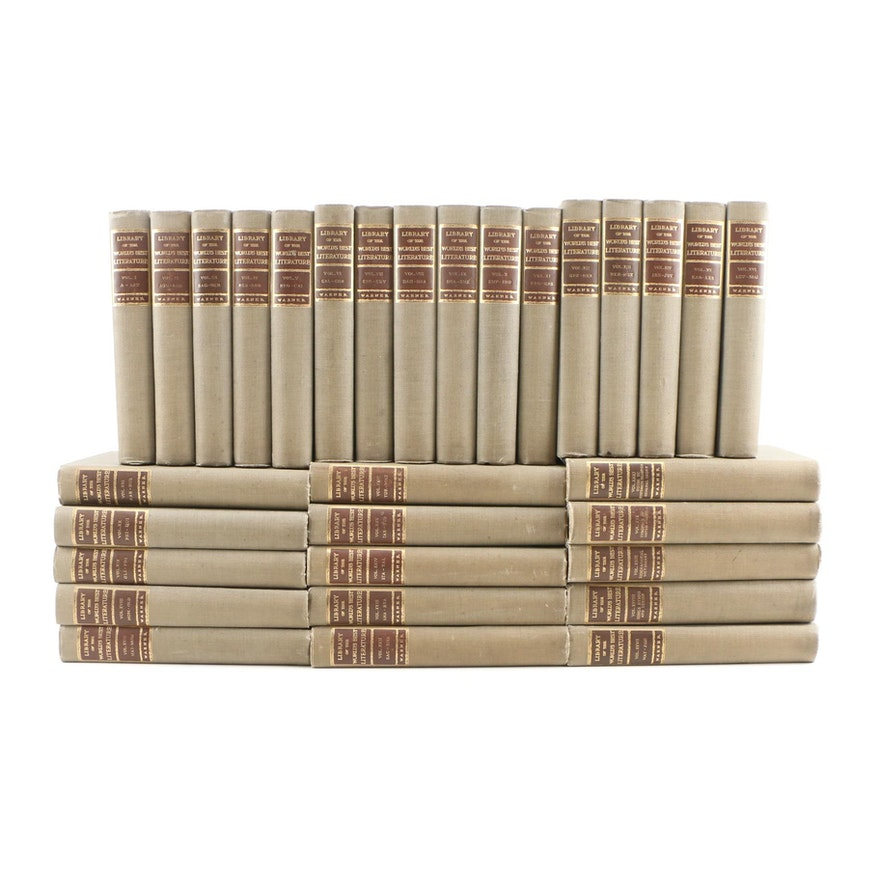 """1902 Edition """"Library of the World's Best Literature"""", Complete Set"""
