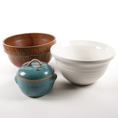 Friendship Pottery Mixing Bowl and Other Kithenware