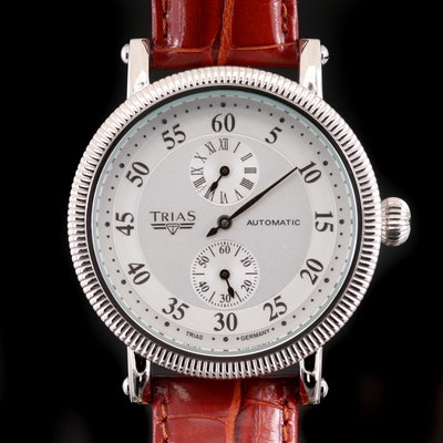 Trias Regulator Stainless Steel Automatic Wristwatch