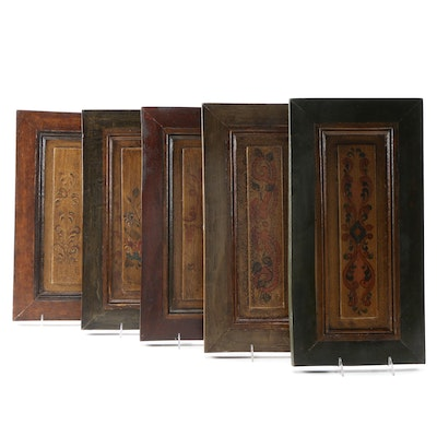 Spanish Colonial Style Artisan Painted Reclaimed Wood Panels